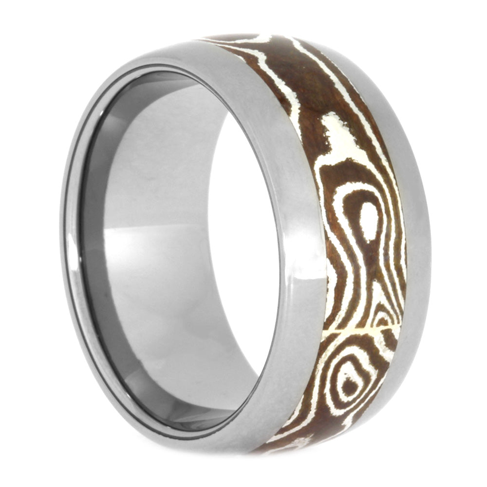 Copper Silver Mokume Men's Wedding Ring, Size 7.25-RS10573 - Jewelry by Johan