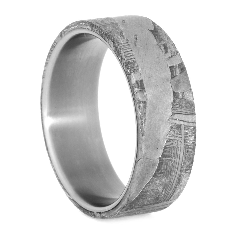 Seymchan Meteorite Ring, Mens Matte Titanium Ring, size 10.5-RS10583 - Jewelry by Johan
