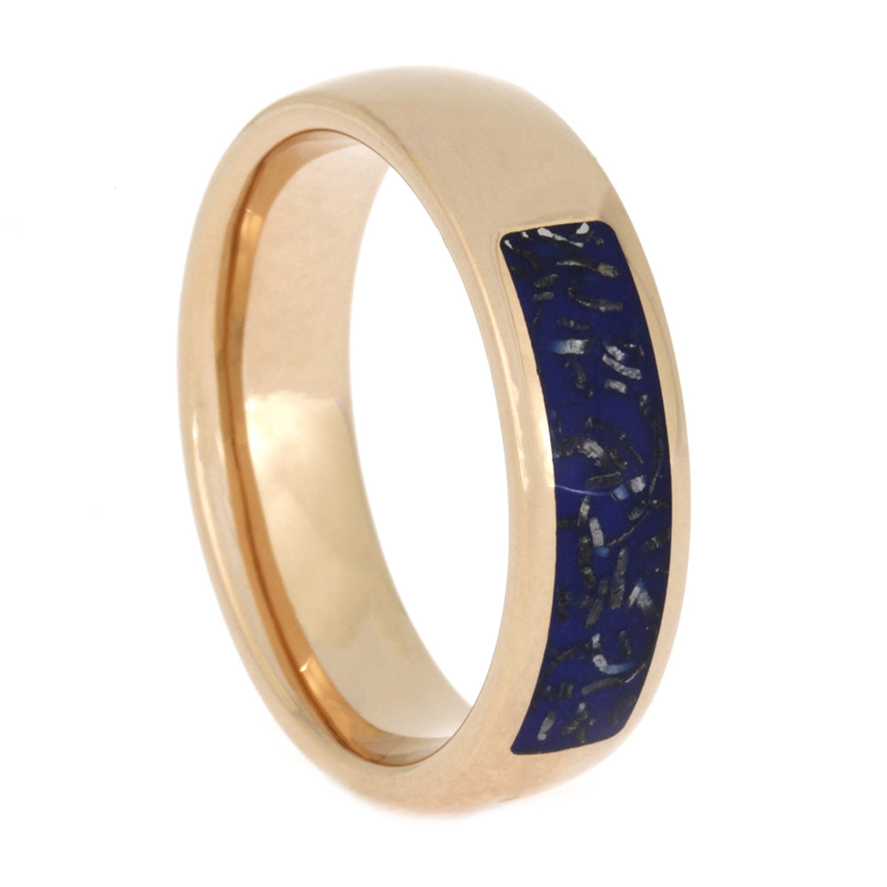 Blue Stardust™ Wedding Ring in Rose Gold, Size 9-RS10604 - Jewelry by Johan