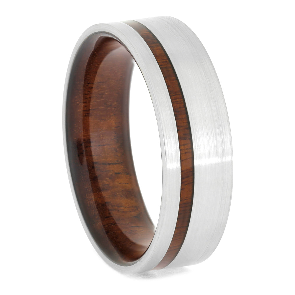 Ironwood Ring in a Brushed Titanium Finish, Size 11-RS10615 - Jewelry by Johan