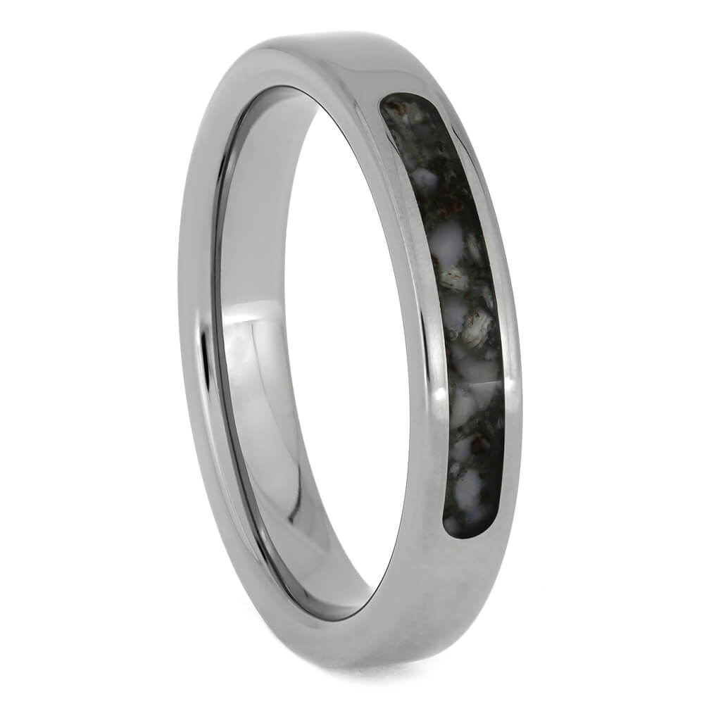 Women's Antler Wedding Band In Polished Titanium, Size 6.75-RS10616 - Jewelry by Johan