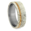 Antler and Oak Wood Ring in Titanium Sleeve, Size 11.25-RS10698 - Jewelry by Johan