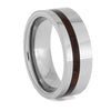 Honduran Rosewood and Tungsten Wedding Band, Size 9.5