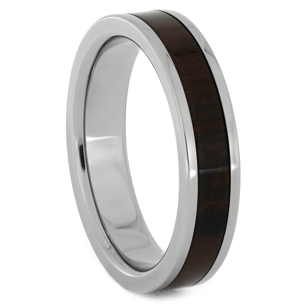 Interchangeable Titanium Wedding Band With Ironwood Inlay, Size 9.25-RS10766 - Jewelry by Johan