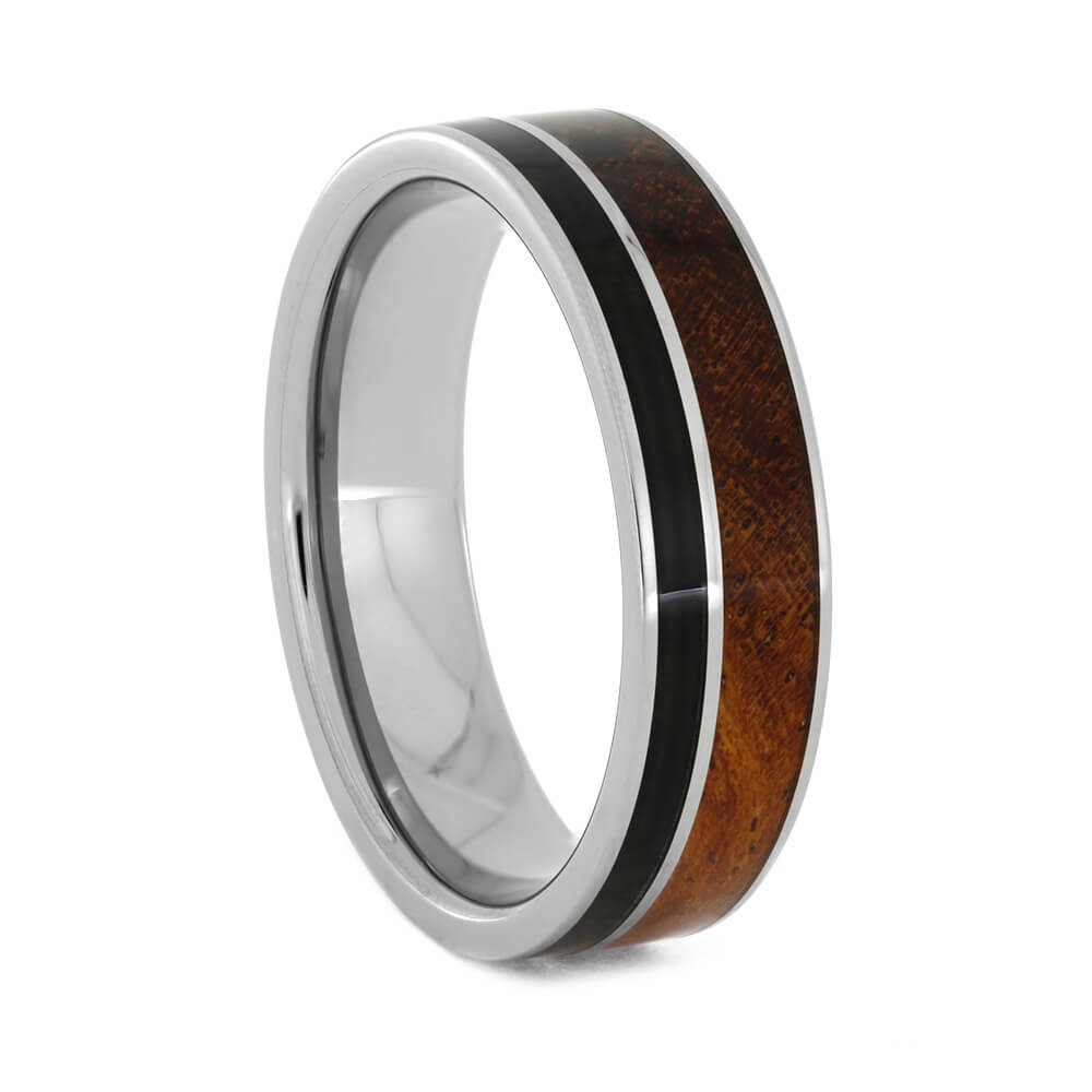 Exotic Wood Ring With Afzelia And Blackwood
