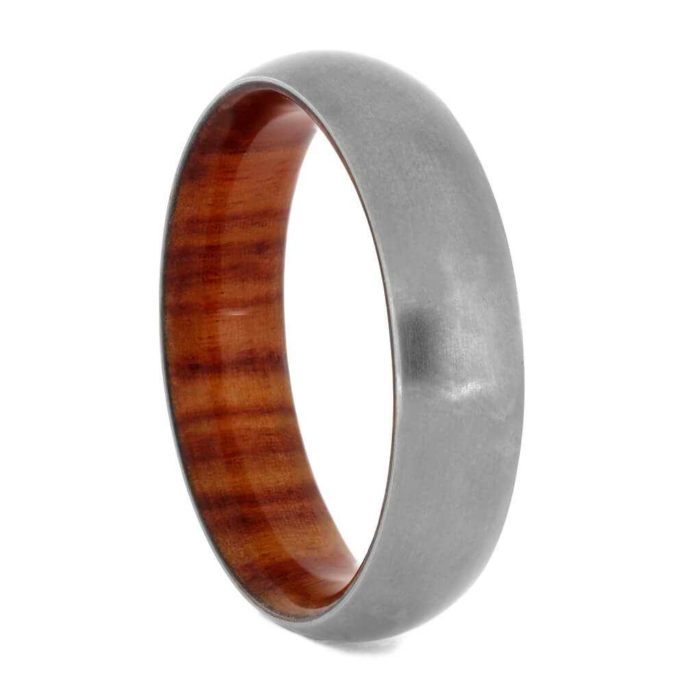 Titanium Wedding Band With Tulipwood Inside, Size 11-RS10834 - Jewelry by Johan