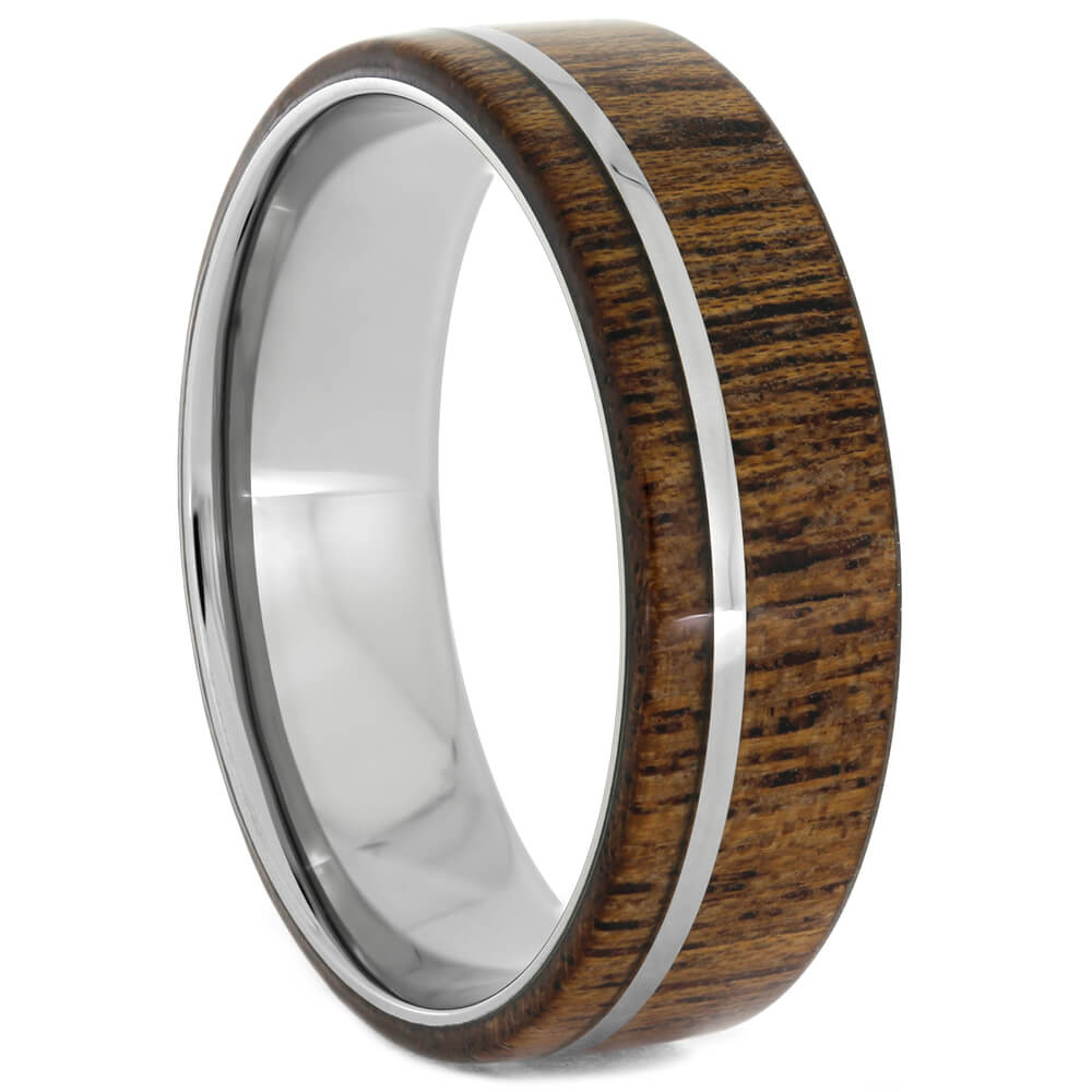 Black Mesquite Wood Ring For Men, Size 15-RS10899 - Jewelry by Johan
