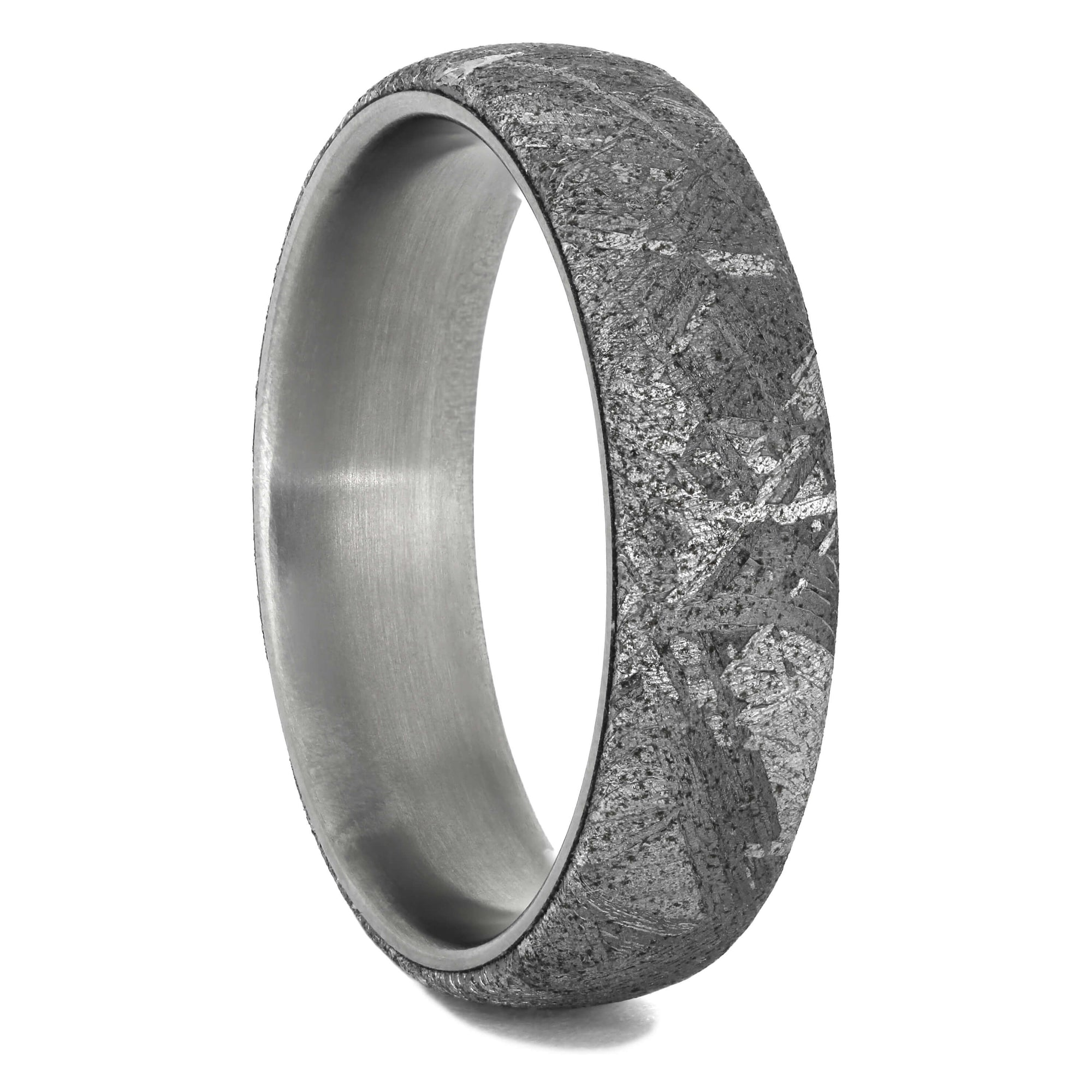 Meteorite Wedding Band With Round Profile, Size 10.25-RS10949 - Jewelry by Johan