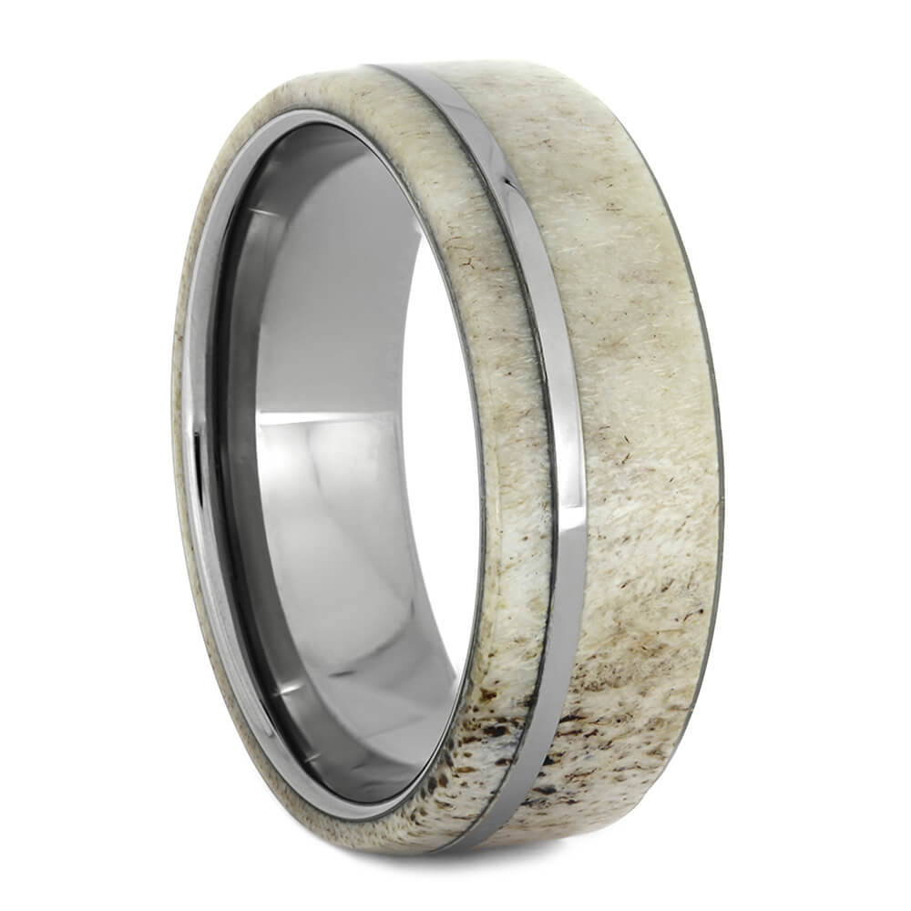 Deer Antler Titanium Wedding Band for Men, Size 11.25-RS10951 - Jewelry by Johan