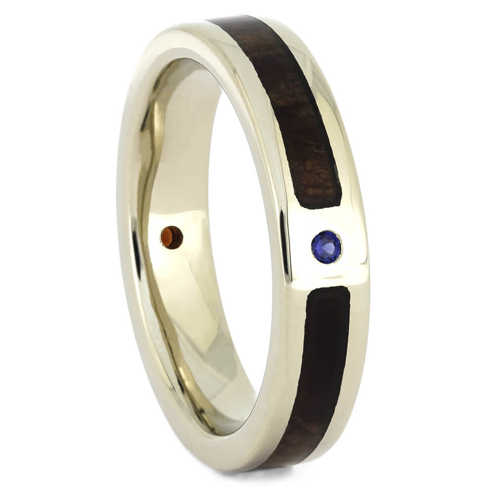 Garnet Wedding Band for Women with Redwood, Size 5.25-RS11008 - Jewelry by Johan