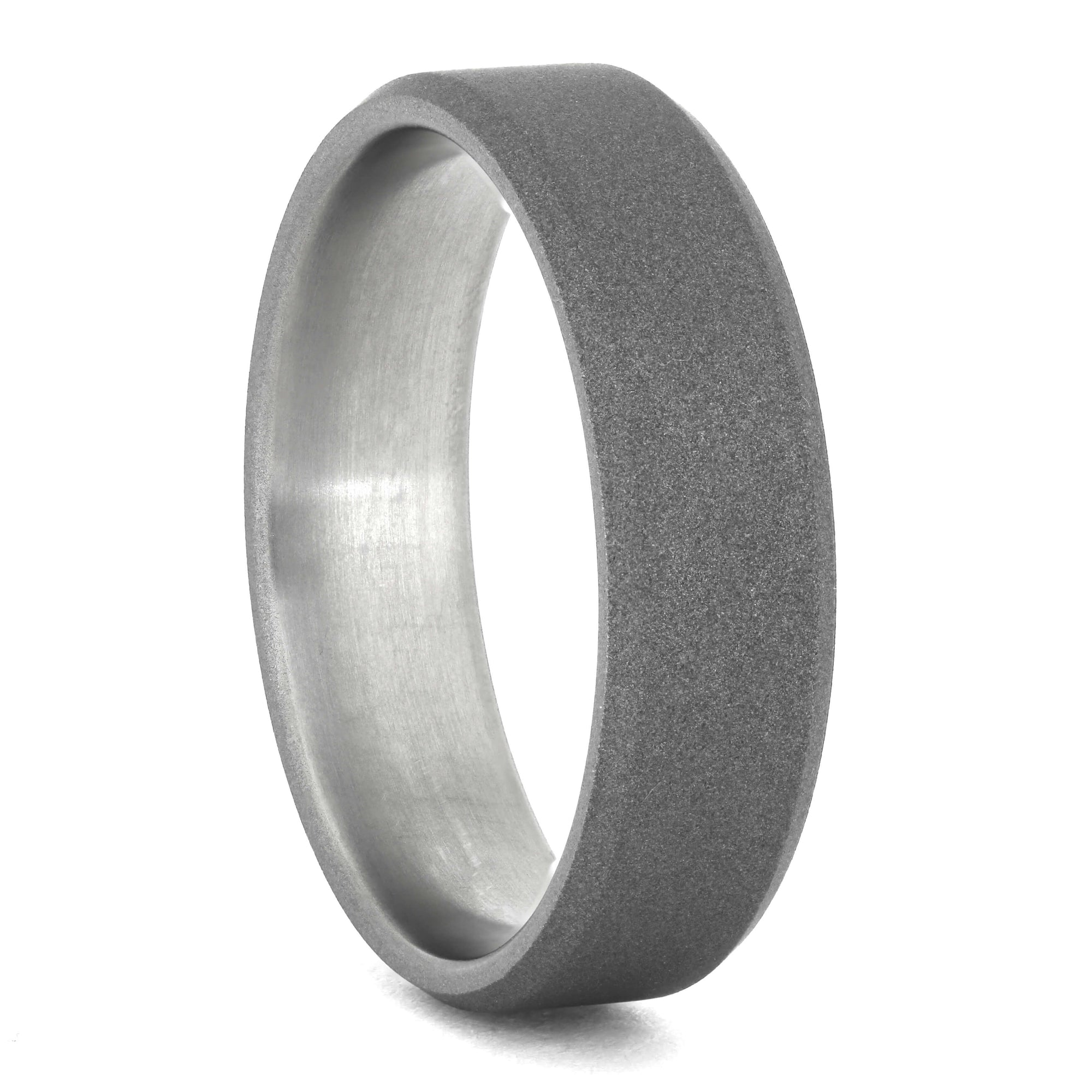 Titanium Wedding Band with Sandblasted Finish, Size 13.75-RS11030 - Jewelry by Johan