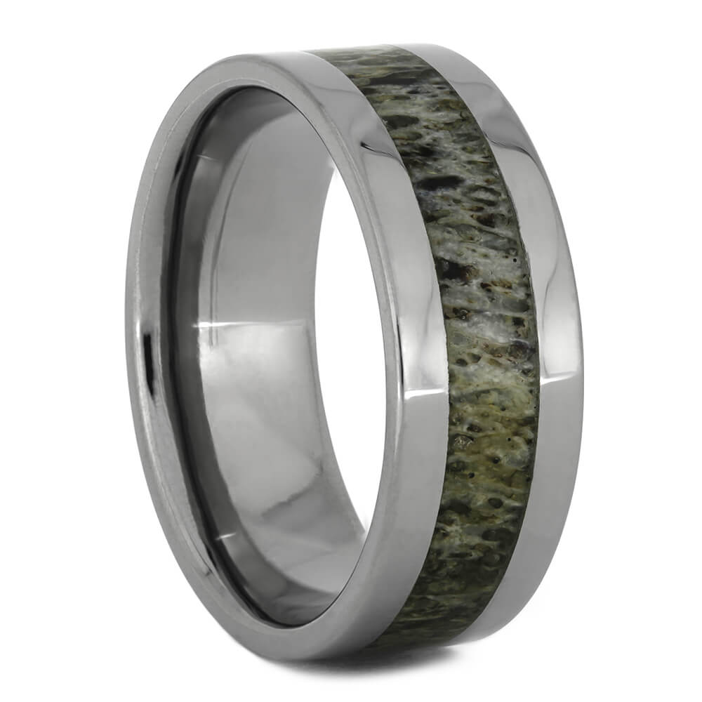 Simple Deer Antler Wedding Band, Size 9-RS11096 - Jewelry by Johan