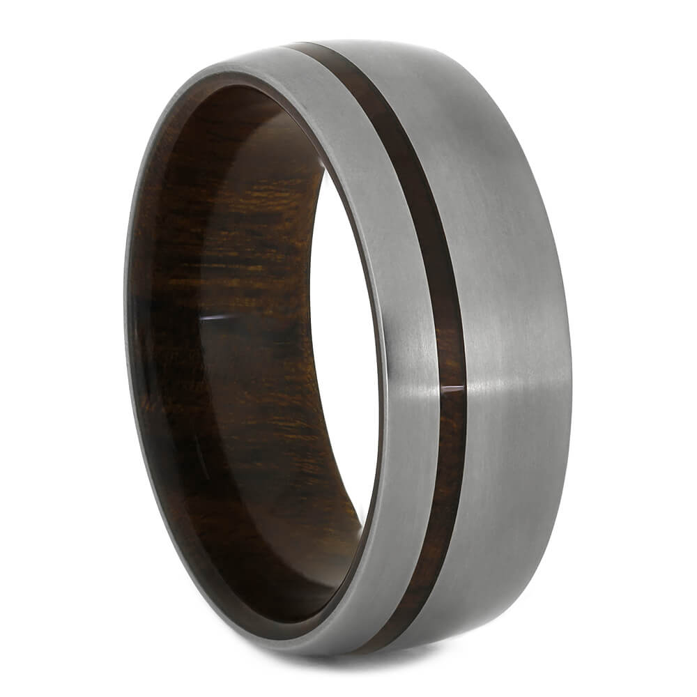 Ironwood Wedding Band with Wood Sleeve, Size 10.5-RS11103 - Jewelry by Johan