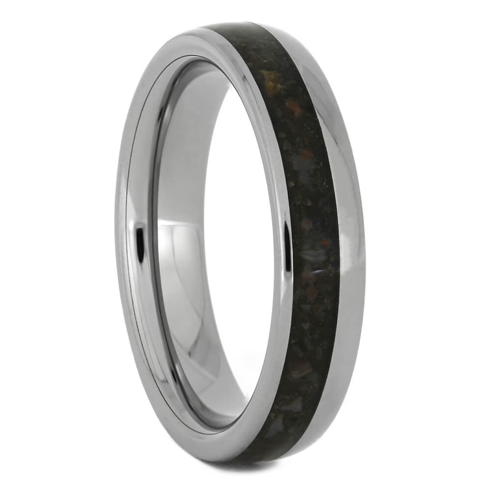 Women's Wedding Band with Dinosaur Bone, Size 5.75-RS11109 - Jewelry by Johan