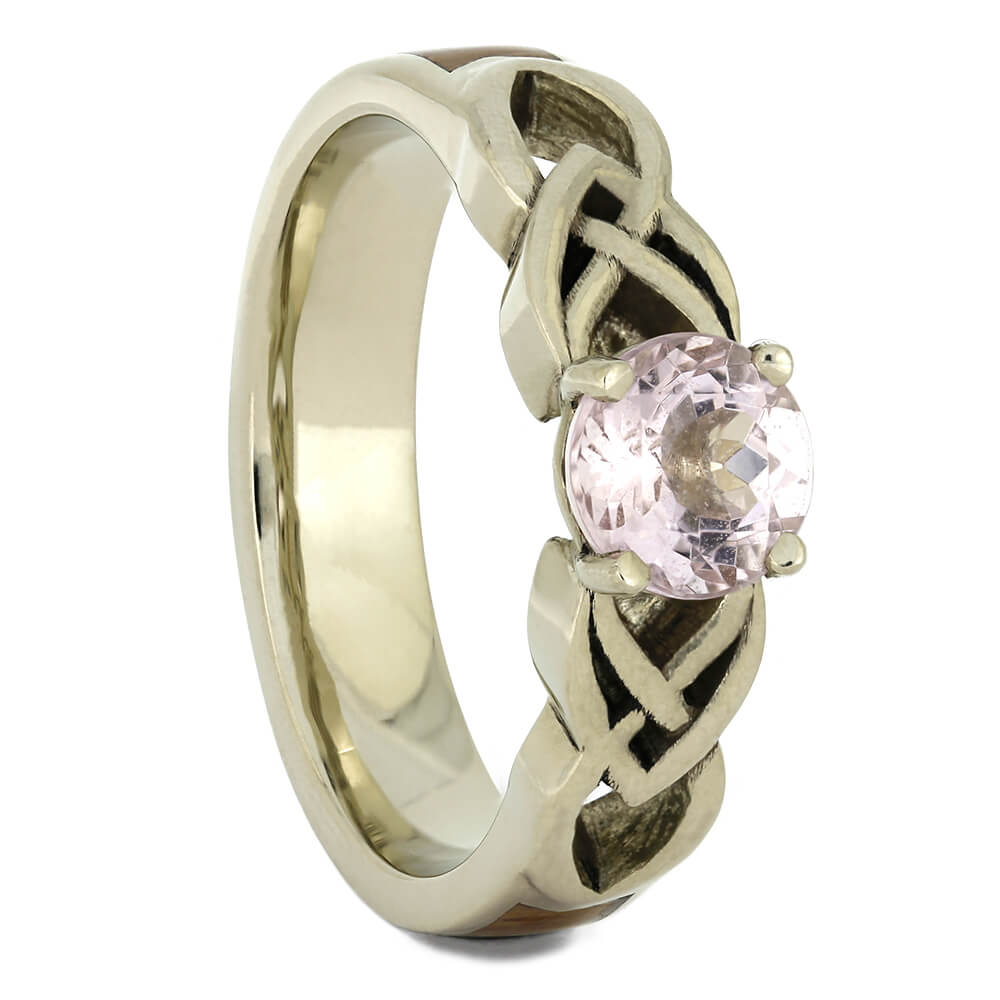 Solitaire Morganite Engagement Ring with Wood, Size 7-RS11110 - Jewelry by Johan