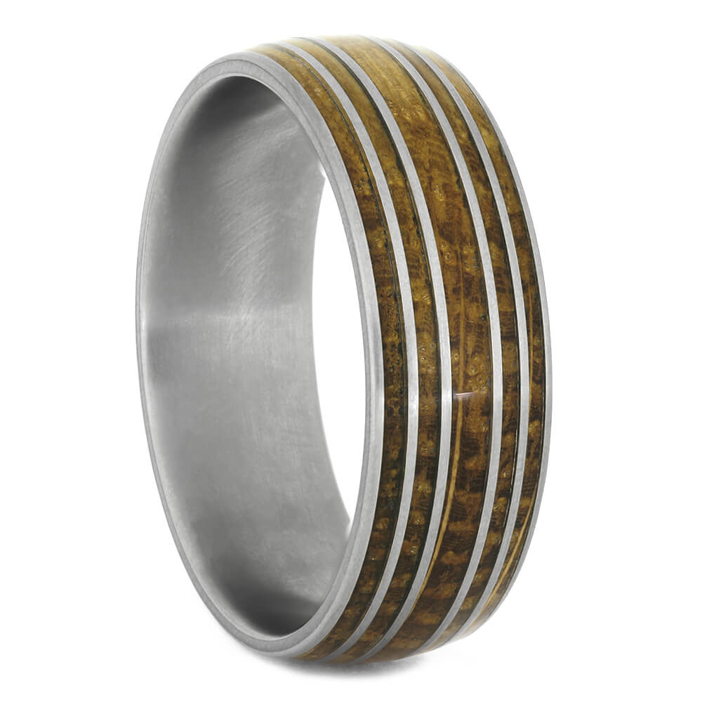 Whiskey Barrel Wood Wedding Band for Men, Size 15.75-RS11134 - Jewelry by Johan