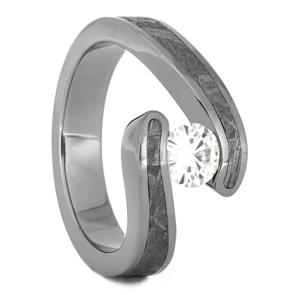 Diamond Engagement Ring with Meteorite, Size 6.25-RS11173 - Jewelry by Johan