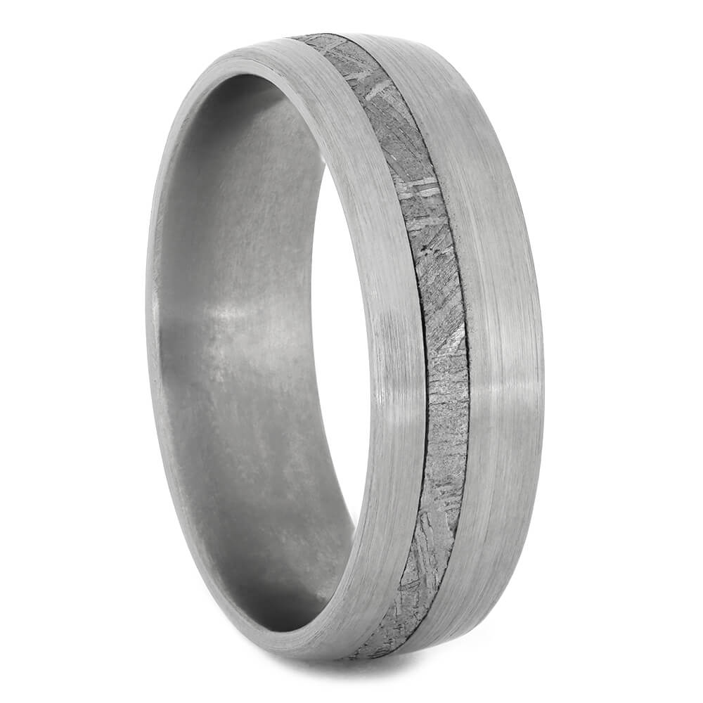 Men's Meteorite Wedding Ring in Titanium, Size 15-RS11176 - Jewelry by Johan