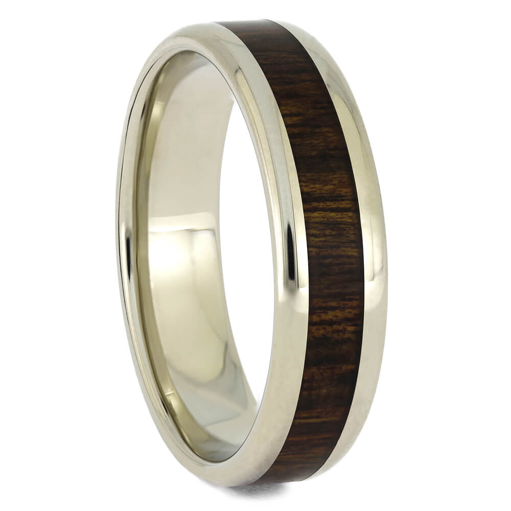 Men's Wedding Band with Rosewood Inlay, Size 11.5-RS11201 - Jewelry by Johan