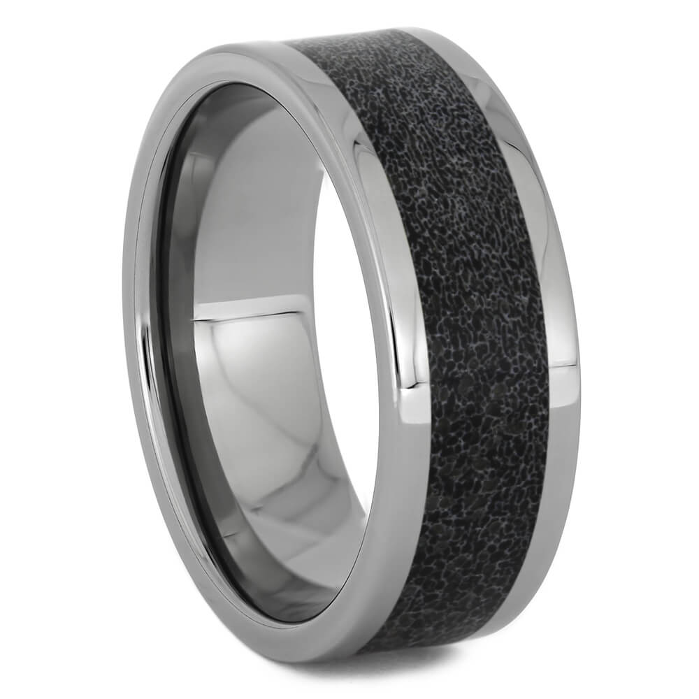 Black Deer Antler Wedding Band for Men, Size 10-RS11256 - Jewelry by Johan