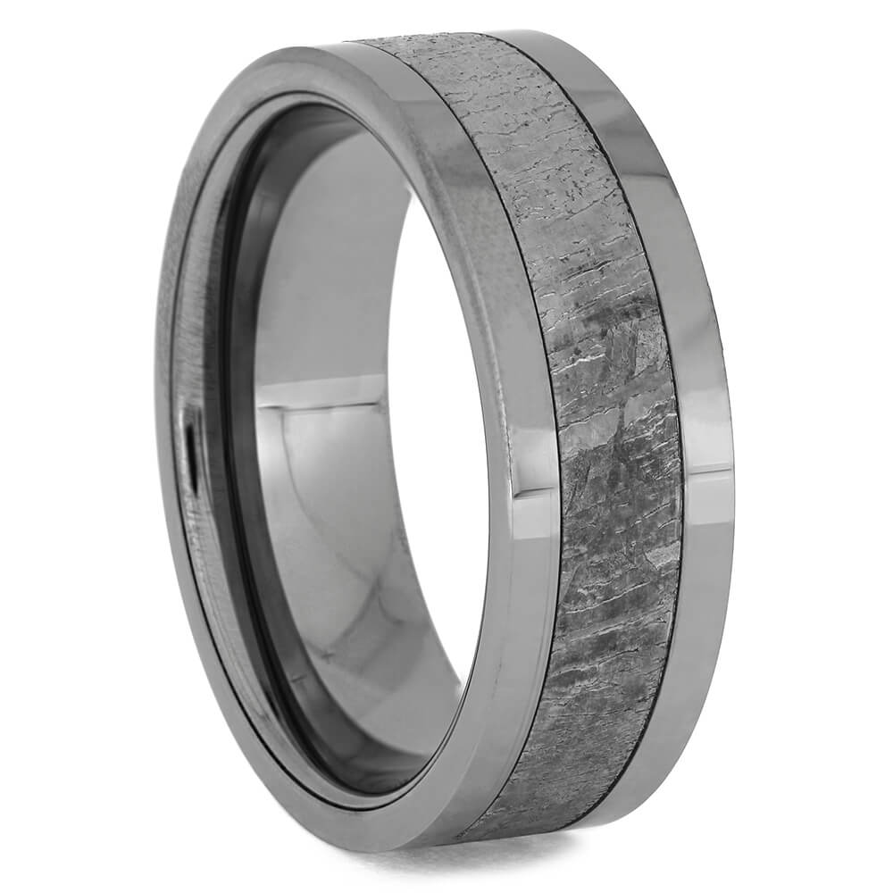 Tungsten and Meteorite Wedding Bands for Men