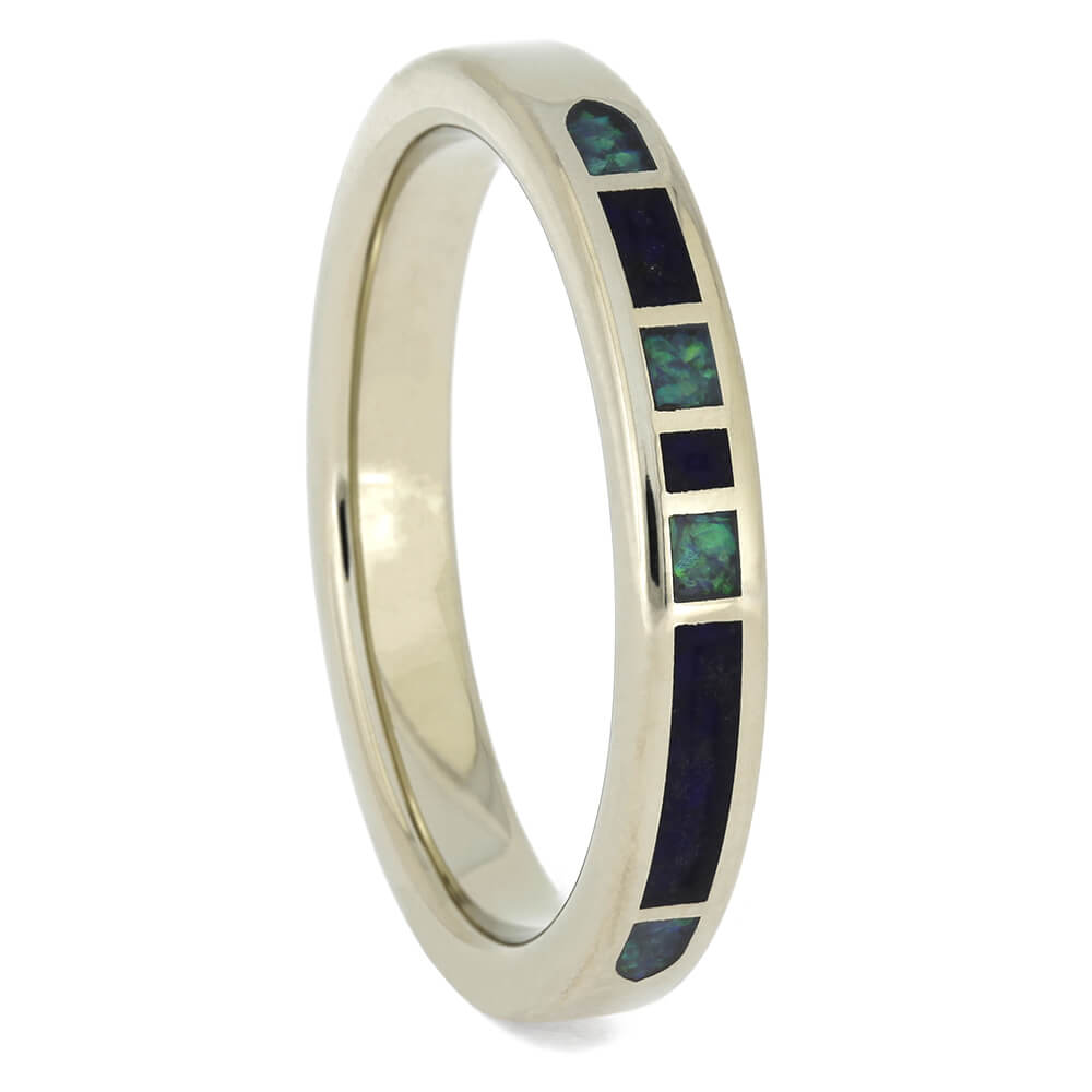 Opal and Lapis Lazuli Women's Wedding Band, Size 6.5-RS11335 - Jewelry by Johan