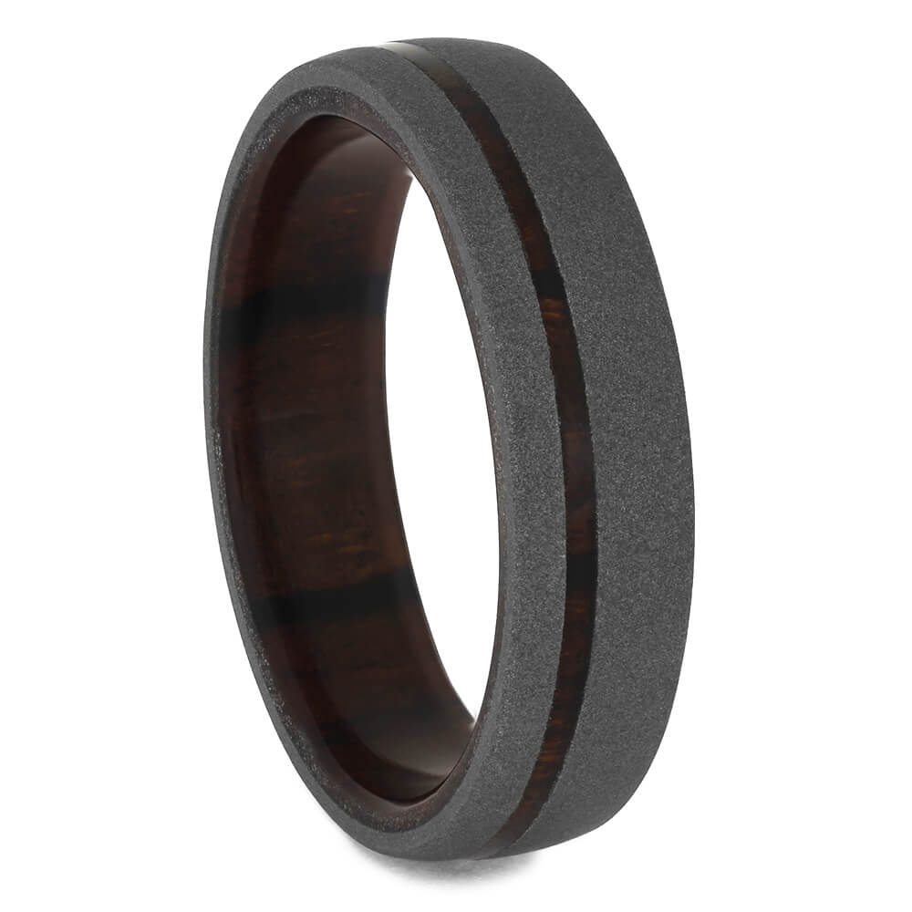 Ironwood Wedding Band with Sandblasted Finish, Size 11.5-RS11361 - Jewelry by Johan