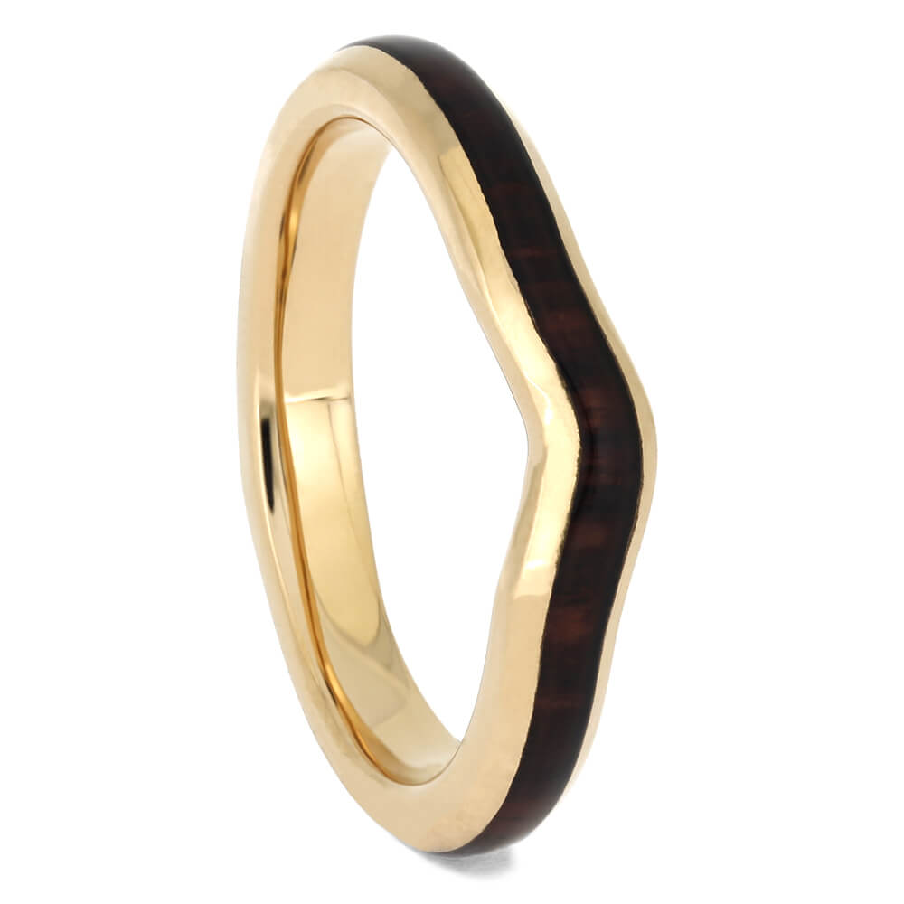 King Wood Shadow Wedding Band in Rose Gold, Size 5-RS11375 - Jewelry by Johan