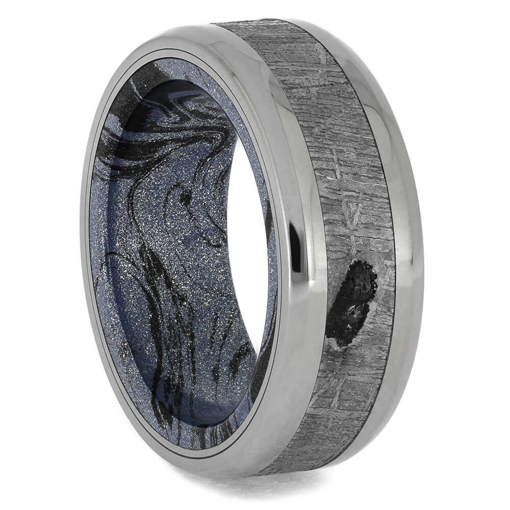 Mokume Gane & Meteorite Ring, Size 7.5-RS11381 - Jewelry by Johan