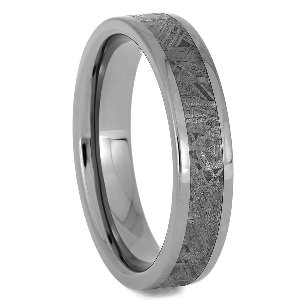 Thin, Authentic Meteorite Wedding Band, Size 9.5-RS11387 - Jewelry by Johan