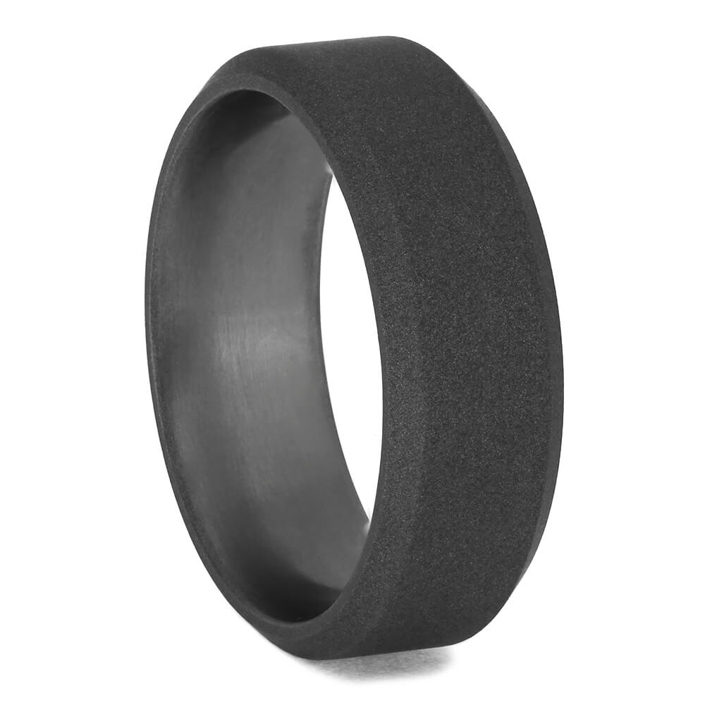 Sandblasted Men's Wedding Band with Beveled Edges, Size 8.25-RS11398 - Jewelry by Johan