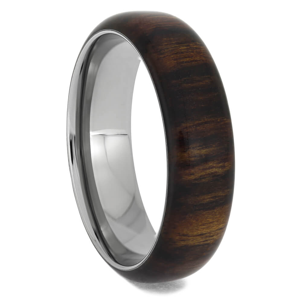 Men's Exotic Wood Wedding Band with Titanium Sleeve, Size 12-RS11401 - Jewelry by Johan