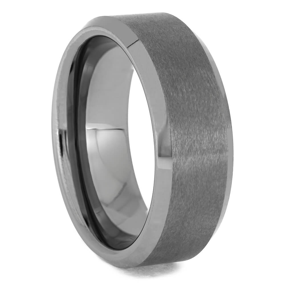 Tungsten Men's Wedding Band with Brushed Satin Finish, Size 9.5-RS11411 - Jewelry by Johan