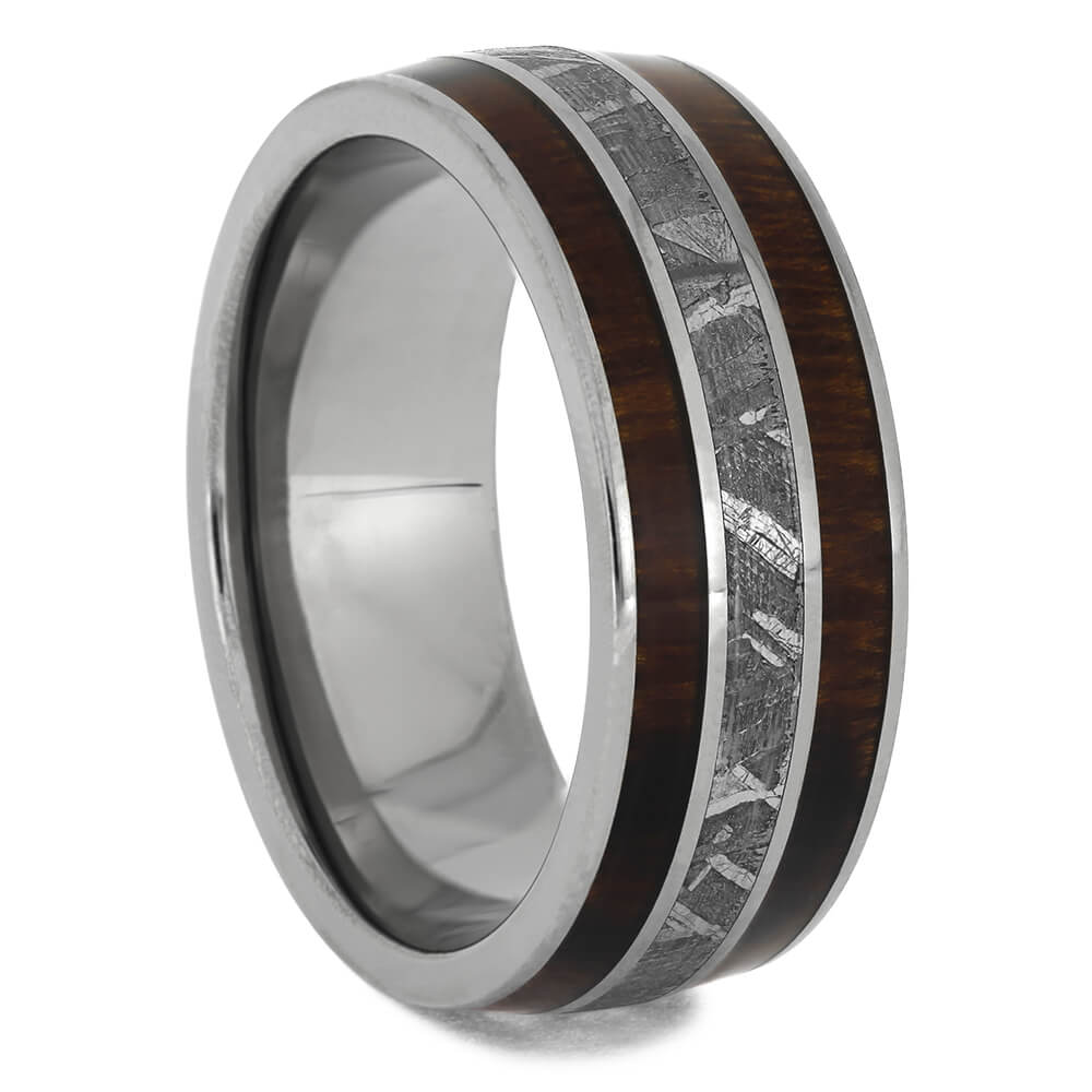 Manly Band with Meteorite & Ironwood, Size 8.75-RS11421 - Jewelry by Johan
