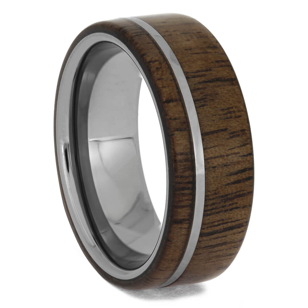Tungsten Walnut Wood Men's Wedding Band, Size 8.5-RS11450 - Jewelry by Johan