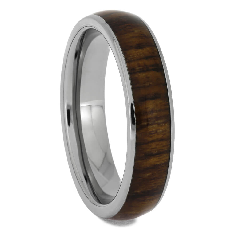 Teak Wood Men's Wedding Band, Size 8.25-RS11460 - Jewelry by Johan