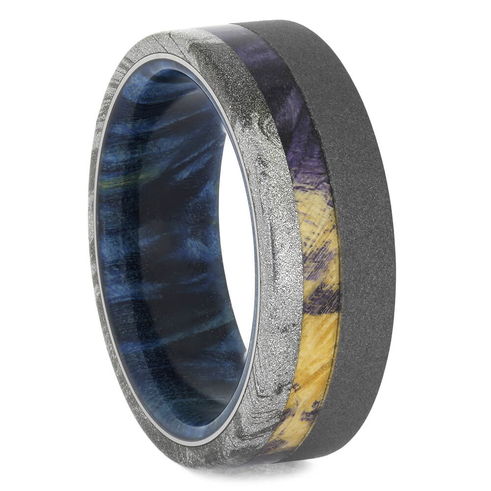 Mokume Ring with Sandblasted Titanium, Size 9.5-RS11509 - Jewelry by Johan