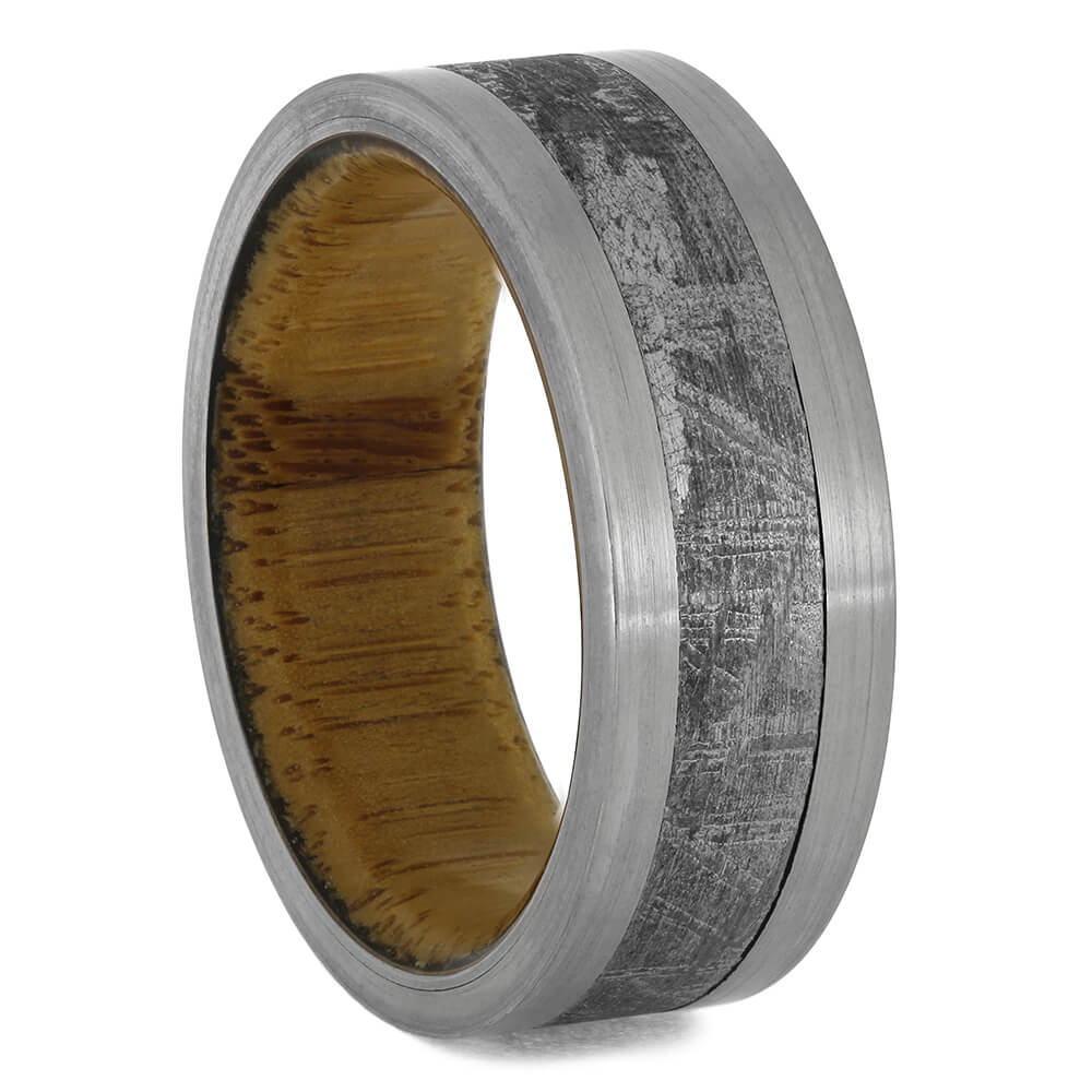 Meteorite & Bamboo Men's Wedding Band, Size 8.75-RS11514 - Jewelry by Johan