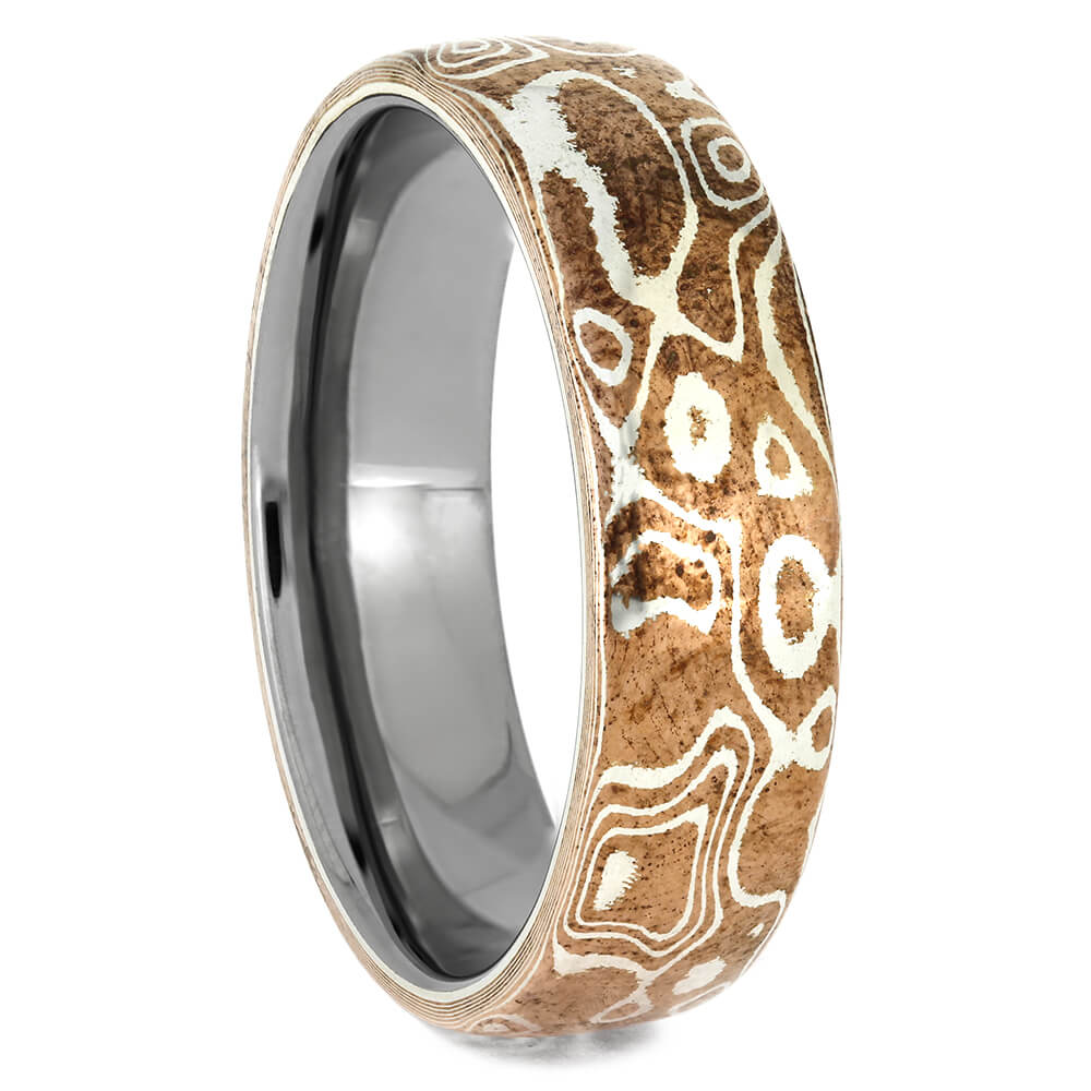 Copper Silver Mokume Wedding Band for Men, Size 12-RS11528 - Jewelry by Johan