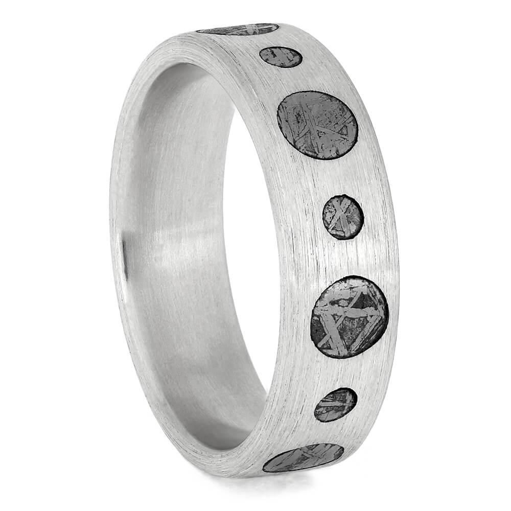 Authentic Meteorite Circles Ring, Size 8.25-RS11534 - Jewelry by Johan