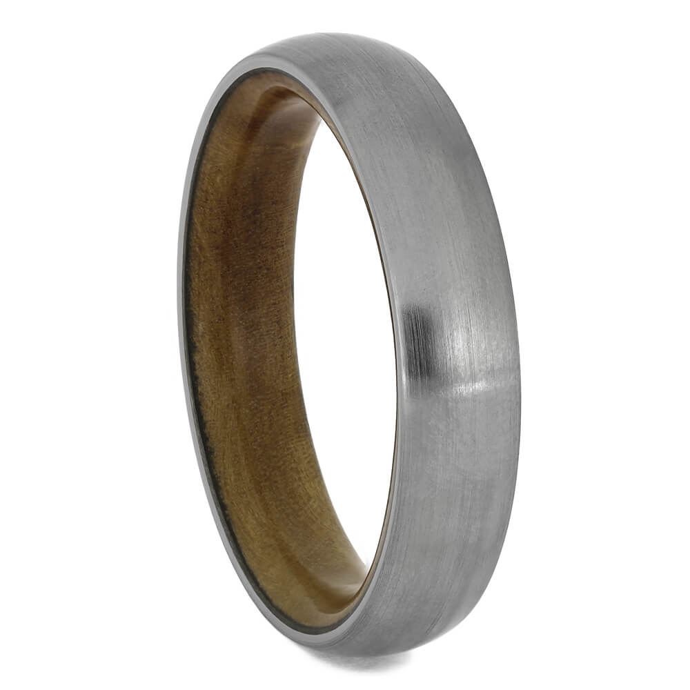 Sindora Wood Wedding Band with Titanium, Size 8.75-RS11556 - Jewelry by Johan