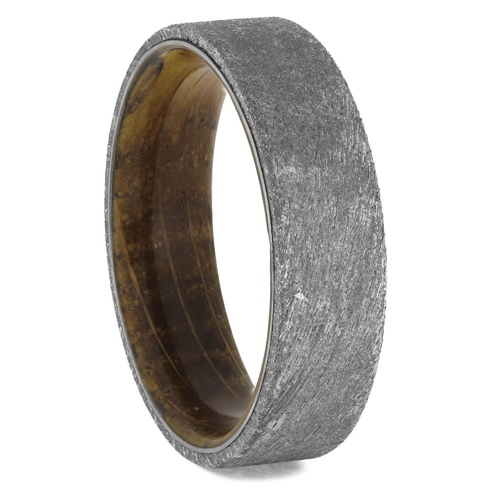 Whiskey Barrel Wood & Meteorite Ring for Men, Size 12-RS11568 - Jewelry by Johan