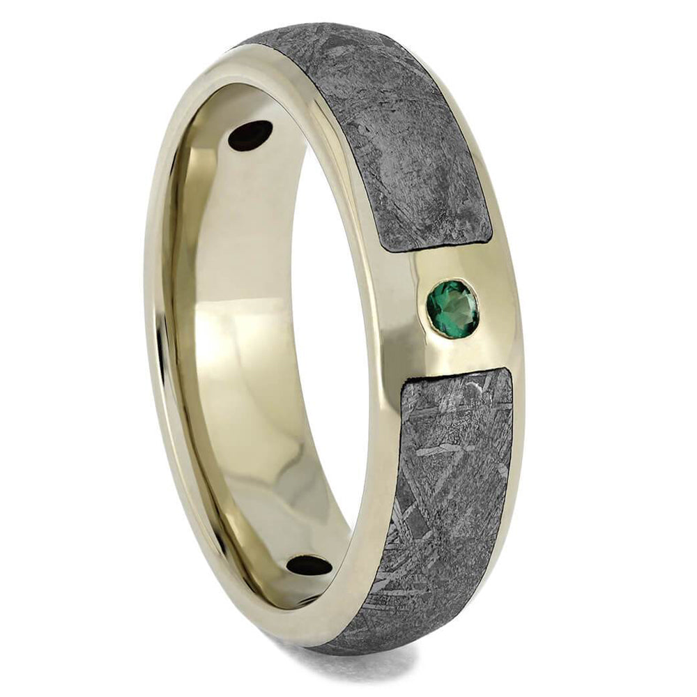 Gemstone & Meteorite Wedding Band, Size 8.25-RS11657 - Jewelry by Johan