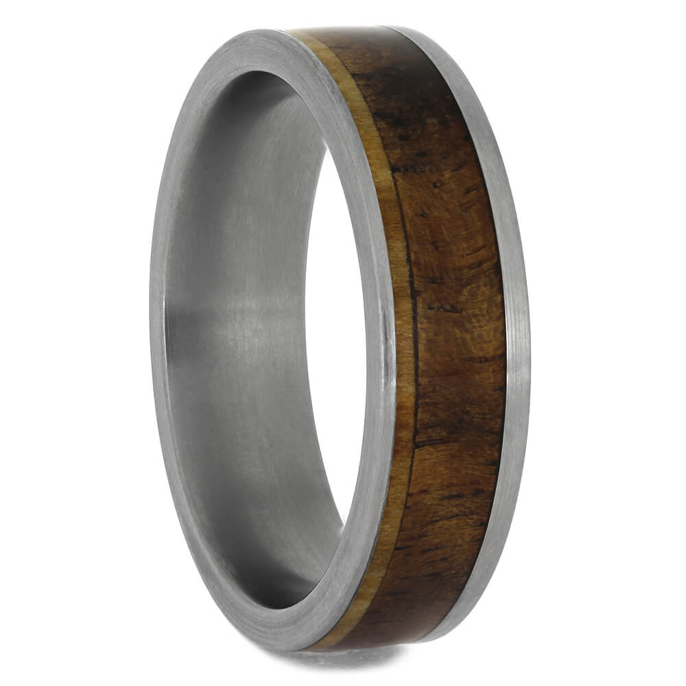 Walnut and Aspen Wood Ring, Size 9.25-RS9071 - Jewelry by Johan