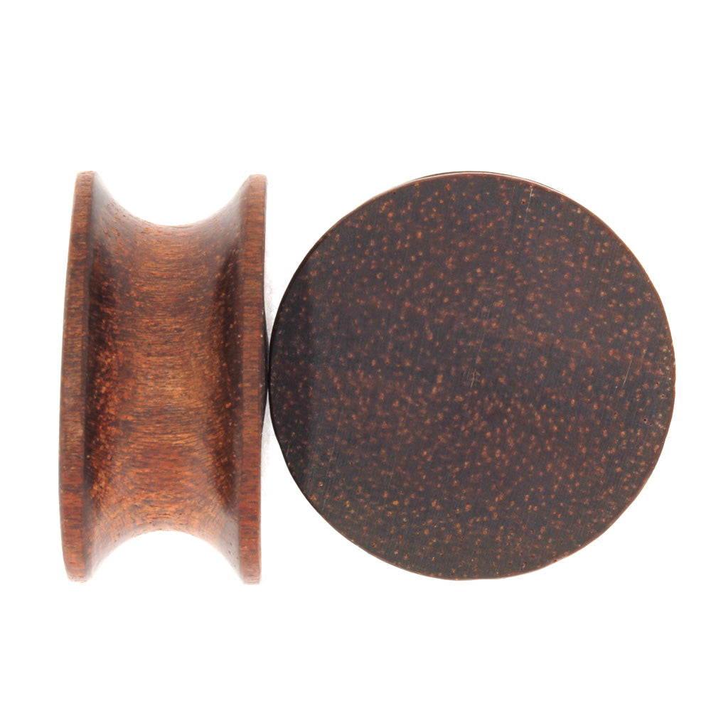 Natural Wood Ear Gauges, Bloodwood Ear Plugs, Wood Jewelry-RS9465
