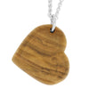 Wood Heart Pendant made with Bethlehem Olive Wood-RS9737