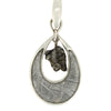 Meteorite Pendant with Sterling Silver, Campo and Muonionalusta Jewelry, Unique Teardrop Pendant-RSSB008
