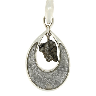 "18"" Teardrop Meteorite Pendant with Campo and Muonionalusta, In Stock-RSSB008"
