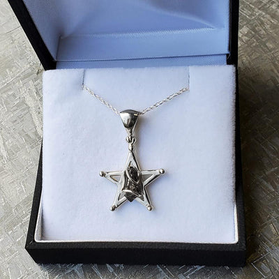 Star Shaped Meteorite Nugget Necklace
