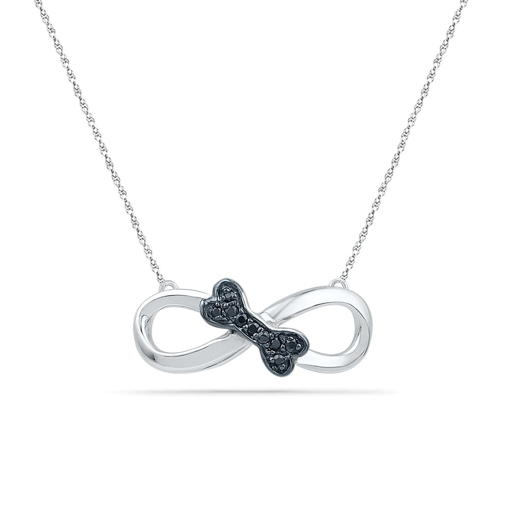 Black Diamond Eternity Necklace, In Stock-RSSH74065 - Jewelry by Johan